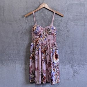 Band of Gypsies pink floral bustier sundress